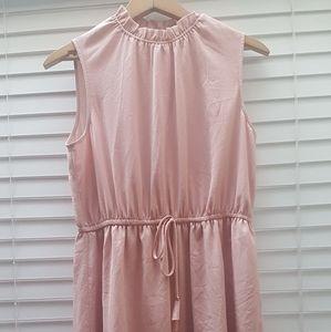 Size 12 blush H&M sleeveless chiffon dress